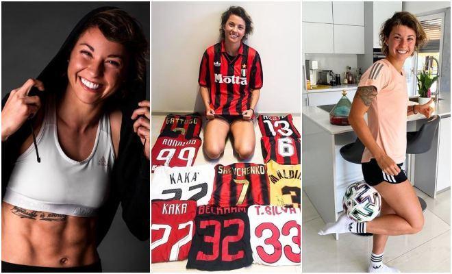 Valentina Giacinti, posa en su cuenta de Instagram.