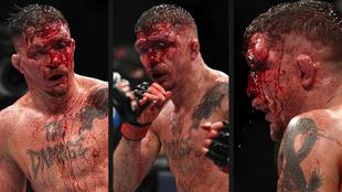 El combate que Nate Landwehr le ganó a Darren Elkins por decisión...