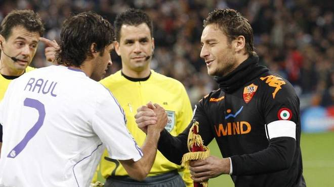 Raul and Totti.