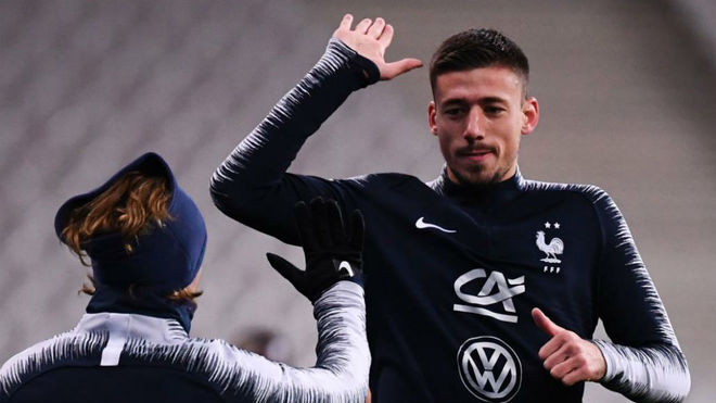 Griezmann and Lenglet.