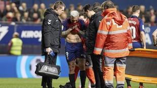 Chimy Ávila, en el momento de la lesión.