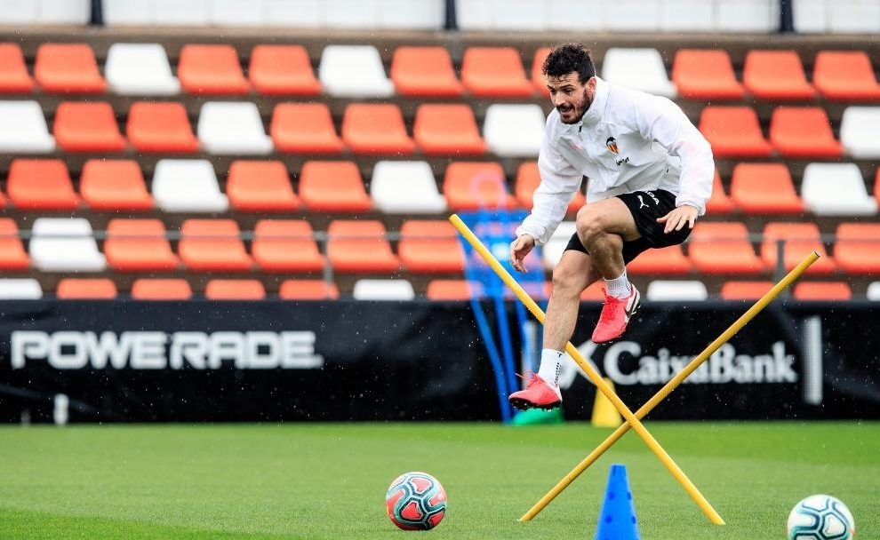 Florenzi durante un entrenamiento.