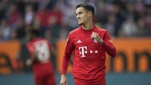 Coutinho, en un partido entre el Bayern y el Augsburg.