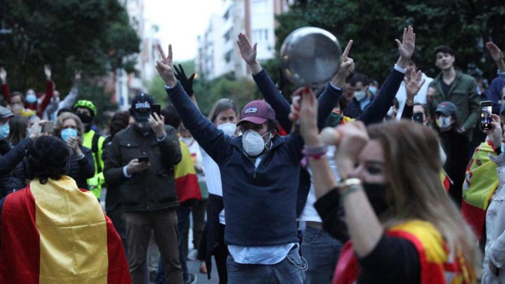 Manifestación en el Barrio de Salamanca de Madrid.Colectivos de...