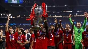 El Liverpool celebra el triunfo de la Champions League en el Wanda...