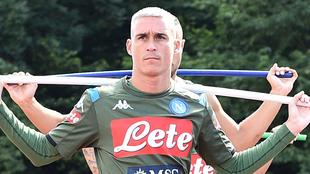 El Napoli entrena de forma individual.