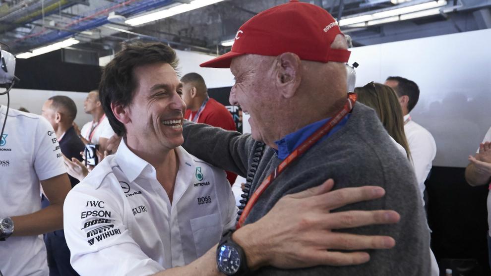 Wolff y Lauda.