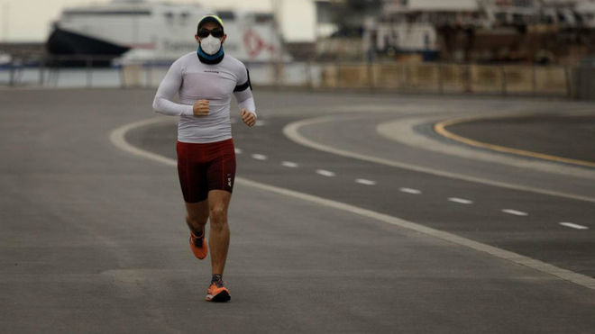 Uso de mascarillas obligatorias: salir a correr hacer deporte