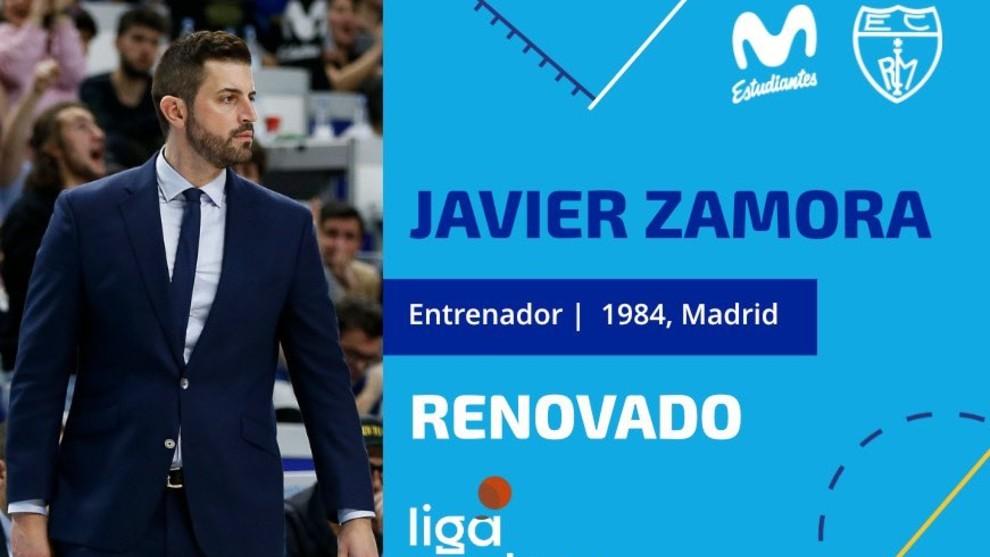 Oficial: Javier Zamora renueva como entrenador del Movistar Estudiantes