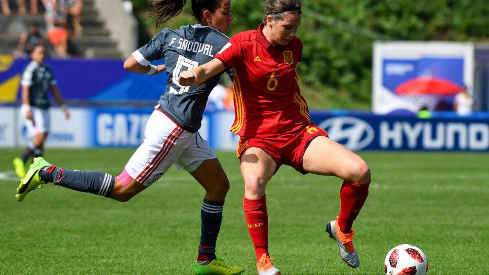 Damaris Egurrola durante el Mundial Sub'20 de Francia en 2018.