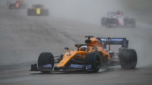 Carlos Sainz, en el GP de Alemania 2019, en el que acarició el podio.