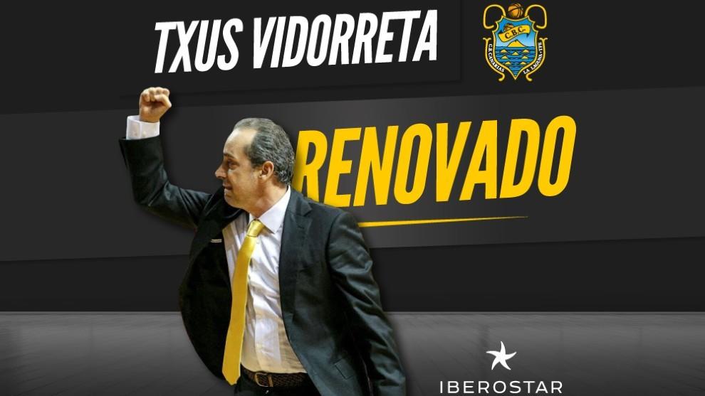 Oficial: Txus Vidorreta seguirá dos años más como entrenador del Iberostar Tenerife