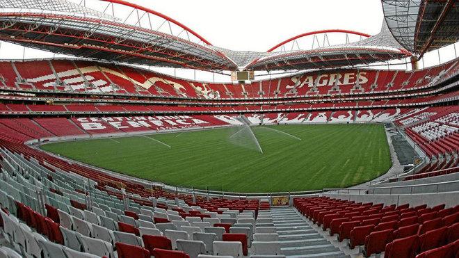 Panorámica del estadio Da Luz del Benfica.