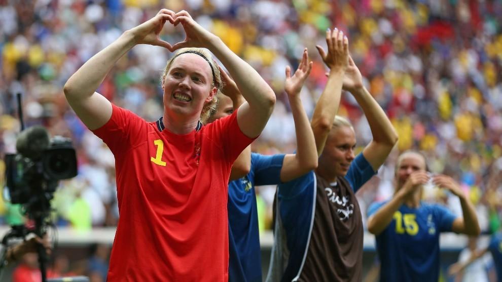 Hedvig Lindahl, tras ganar un partido en el Mundial de Francia en...