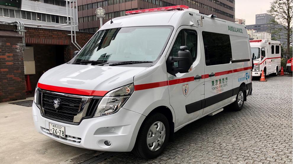 La primera ambulancia eléctrica ya opera en Tokio y es de Nissan
