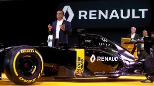 Ghosn, en una presentación del equipo Renault de F1.