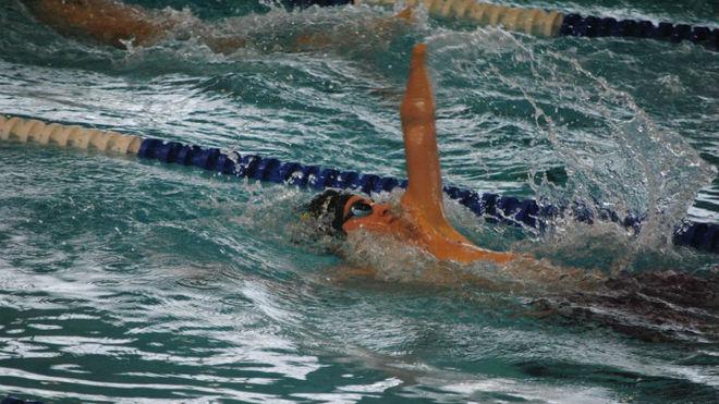 Ariel Schrenck, durante una competición.