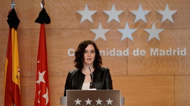 Isabel Diaz Ayuso, presidenta de la Comunidad de Madrid, en una...