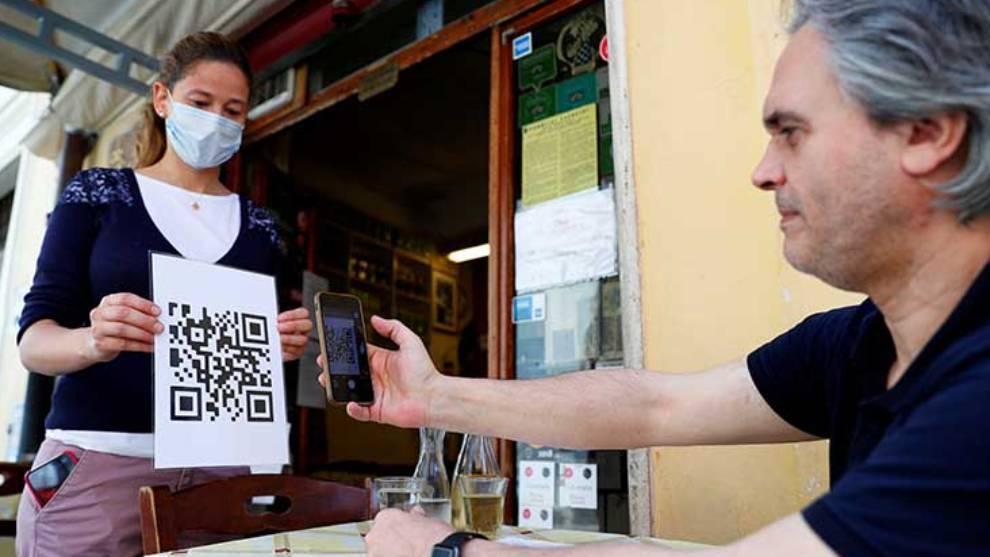 Menús en códigos QR, novedad en Italia
