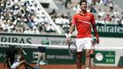 Djokovic, durante un partido en Roland Garros