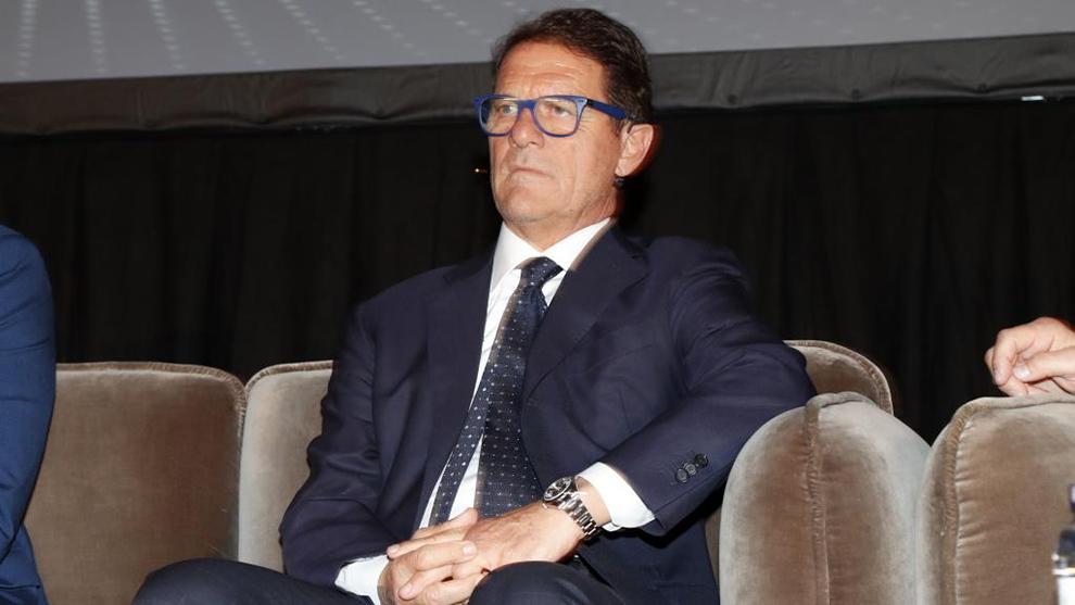 Capello, en el World Soccer Congress de 2019.