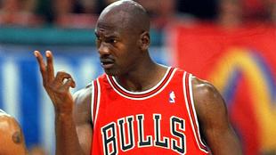 Michael Jordan en un partido de los Chicago Bulls
