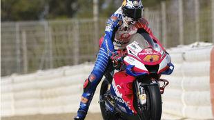 Jack Miller, en un test en Jerez.