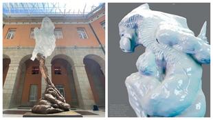 La escultura instalada por Díaz Ayuso en a a las víctimas del...