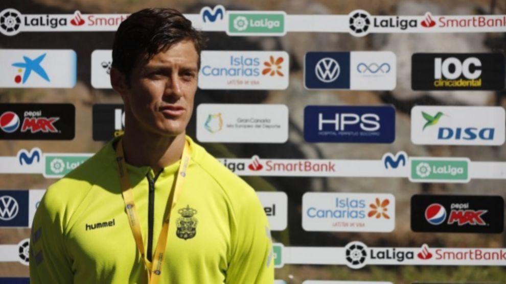 Martín Mantovani, en la rueda de prensa posterior al entrenamiento de...