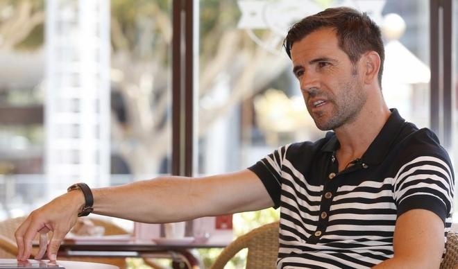 David Albelda durante una entrevista con MARCA