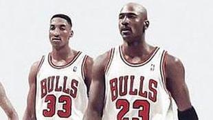 Imagen promocional de 'The Last Dance' con Pippen y Jordan