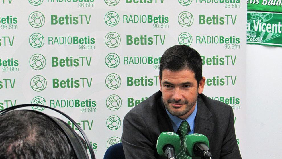 Alarcón, en Radio Betis