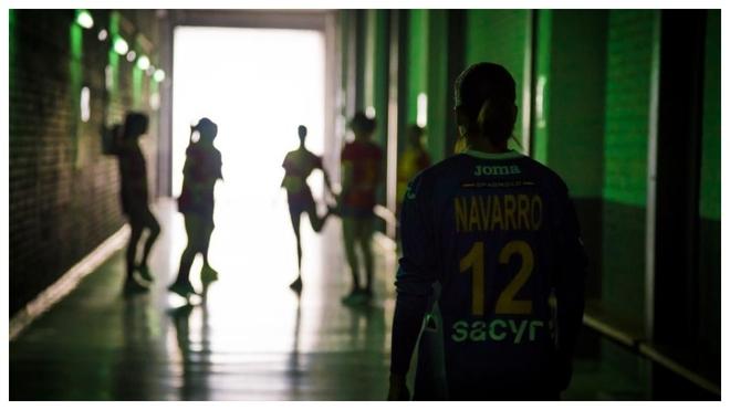Silvia Navarro, antes de un entrenamiento de la selección española.