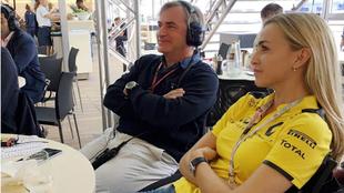 Carmén Jordá y Carlos Sainz.