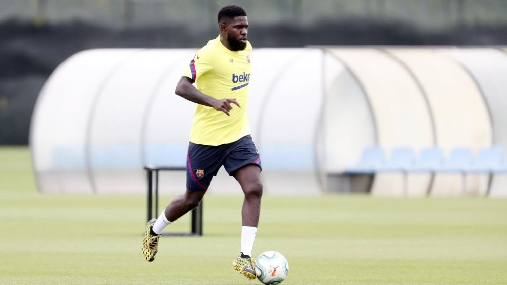 Umtiti, during a session