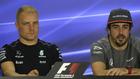 Valtteri Bottas y Fernando Alonso.