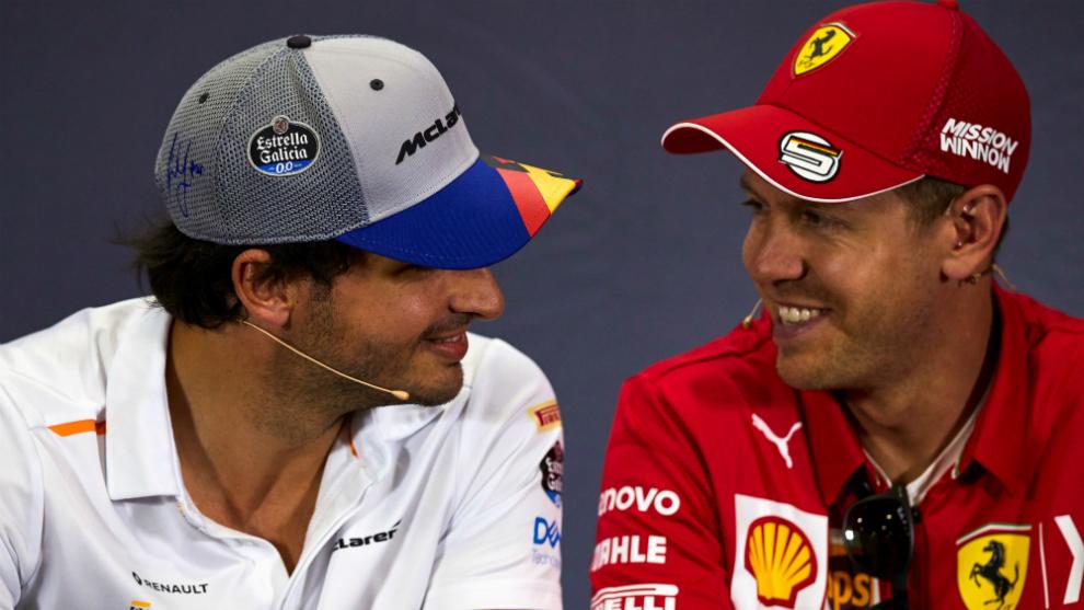 Carlos Sainz y Sebastian Vettel.