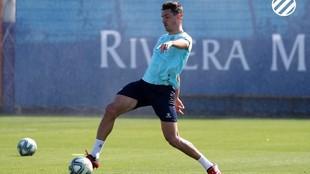 Bernardo, durante un entrenamiento.