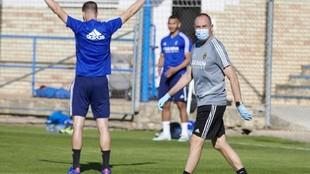 Víctor Fernández, en un entrenamiento.