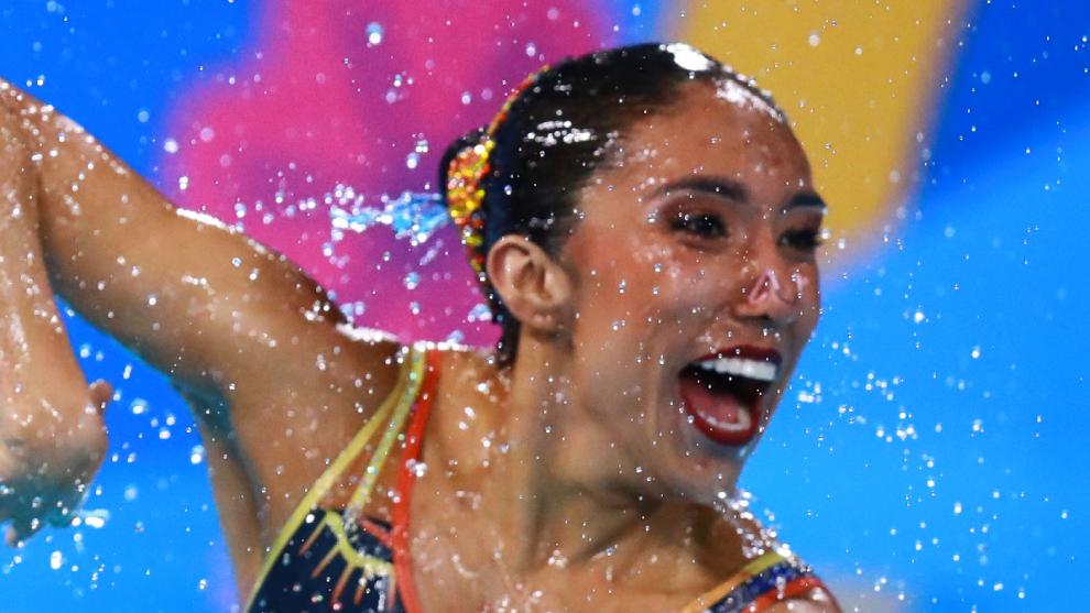 Joana Jiménez forma parte del equipo mexicano de natación artistica