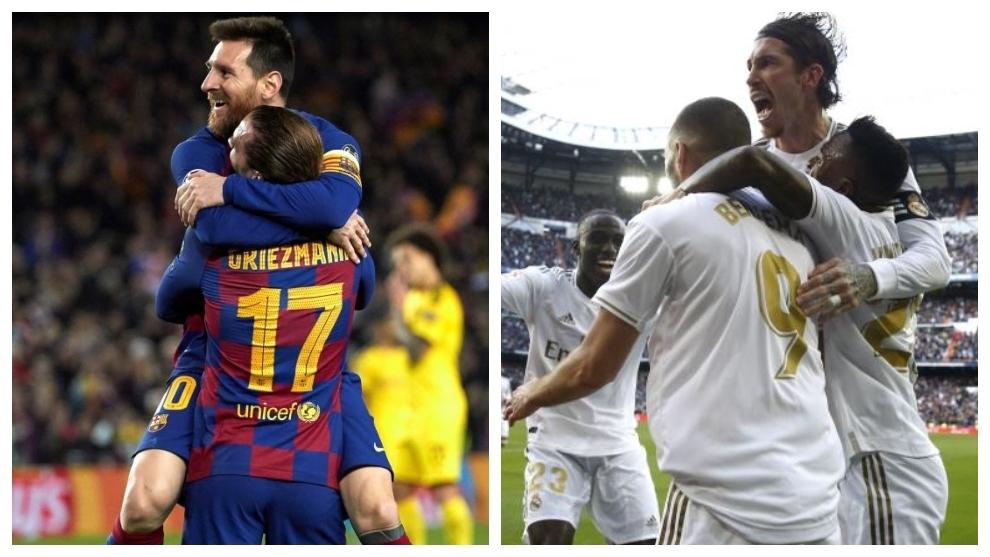 Real Madrid y Barça se conjuran para un pleno de victorias que les dé la Liga
