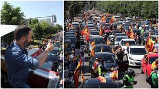 La caravana de Vox con Santiago Abascal al frente colapsa Madrid de...