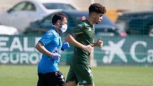 El melillense Mohamed Mizzian (20) entrenando en la Ciudad Deportiva...