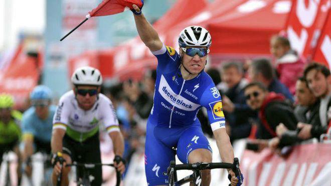 Fabio Jakobsen, en una carrera del año pasado.