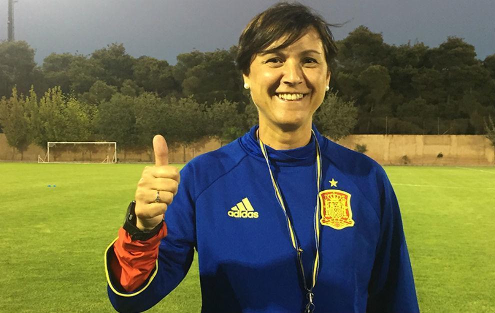 Toña Is tras un entrenamiento con la selección española Sub'17.
