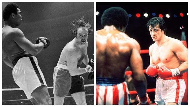 Ali contra Wepner y Rocky contra Apollo Creed.