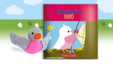 """Mis amigos los cachorros. Ya a la venta libro + peluche """"El pajarito Nino"""" por sólo 6,95¤"""