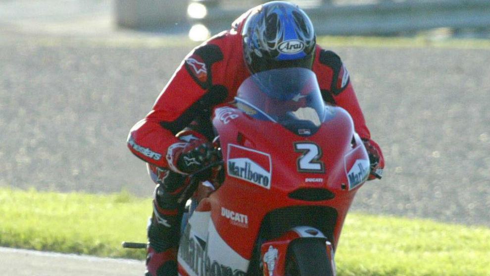 Michael Jordan, sobre la Ducati de MotoGP.