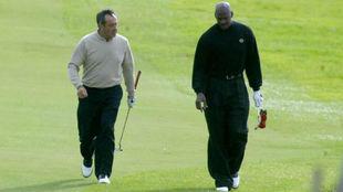 Seve Ballesteros y Michael Jordan, en El Saler en 2004.