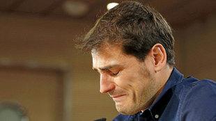 Iker Casillas, en su despedida